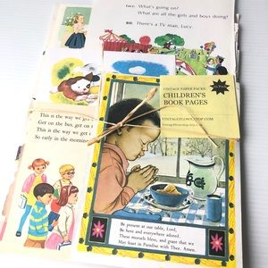 Childrens Paper Ephemera Scrapbook Illustrated